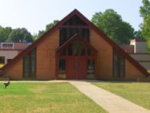 Front of Aldersgate United Methodist church